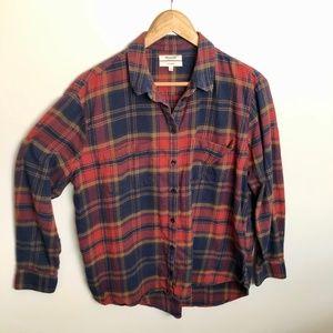 Madewell Oversized Flannel Boyfriend Shirt Sz L